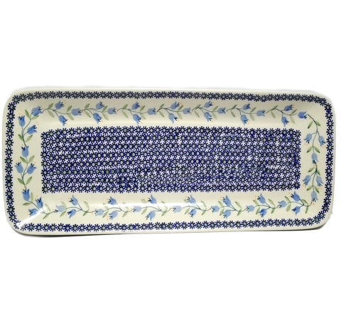 "19.75"" Rectangular Platter in Trailing Lily pattern"