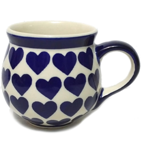 8 oz Bubble mug in Wrapped in Hearts pattern