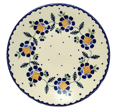 "Luncheon Plate 8.5""/21.5cm in Traditional Blue Daisy pattern"