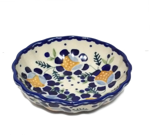 "4.75"" Candy Bowl in Blue Daisy pattern"