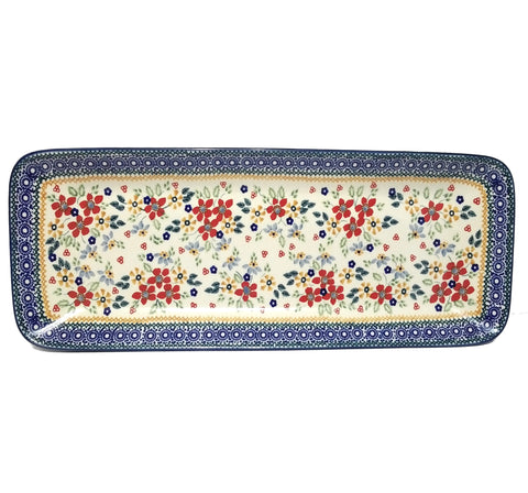 "19.75"" Rectangular Platter in Summer Garden pattern"