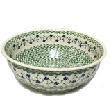 "11.5"" Salad Bowl in Green Meadow pattern"