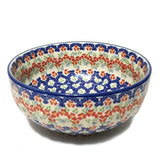 "8.25"" Salad Bowl in Unikat Poppy Meadow pattern"