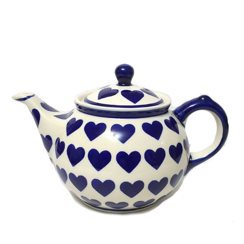Morning teapot in Wrapped in Hearts pattern