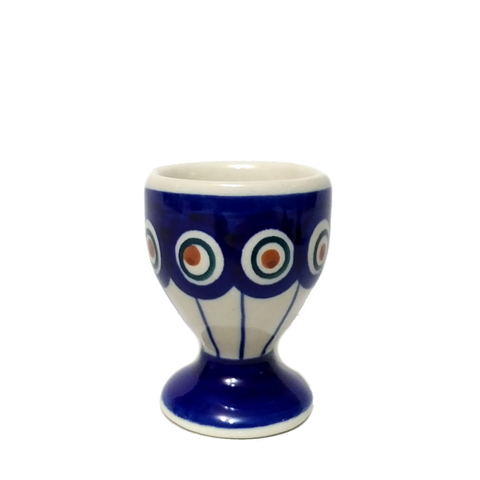 Egg cup in Peacock's Eye pattern