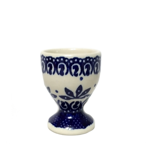 Egg cup in Blue on White pattern