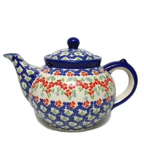 Afternoon teapot in Unikat Poppy Meadow pattern