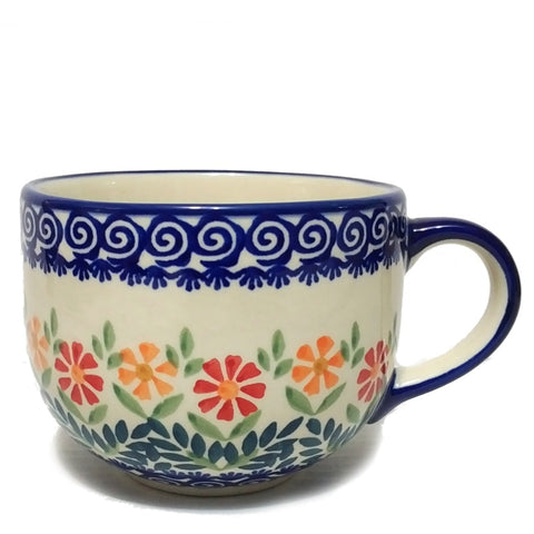 Cappuccino / Soup mug 0.5L in Spring Morning pattern