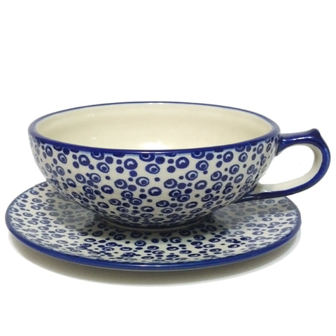 Large Teacup in Bubbles pattern
