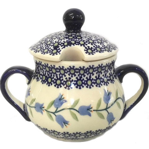 Large Sugar Bowl in Trailing Lily pattern