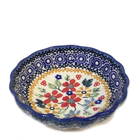 "4.75"" Candy Bowl in Signed Summer Garden pattern"