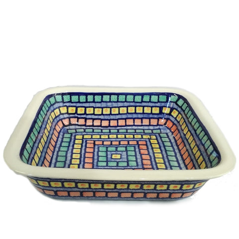 "26cm / 10"" Square Baking Dish in Mosaic pattern"