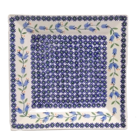 "9"" Square Platter in Lily pattern"