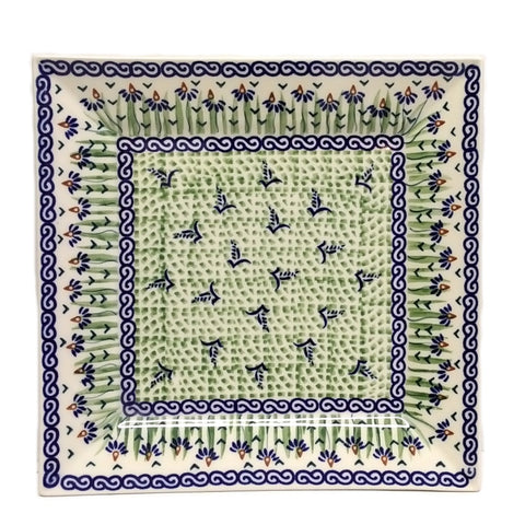 "9"" Square Platter in Dancing Garden pattern"