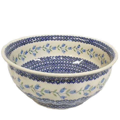 "11.5"" Salad Bowl in Trailing Lily pattern"