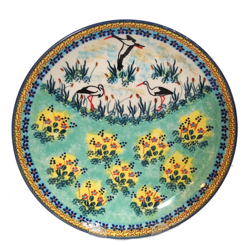 "8.5"" / 21.5 cm Luncheon Plate in Signed Stork Meadow pattern"