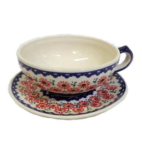 Large Tea cup in Painted Daisy pattern
