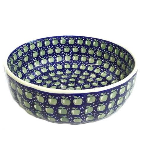 "10.75"" Salad Bowl in Green Apple pattern"