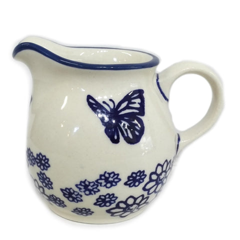 0.2L Creamer in Blue Butterfly pattern