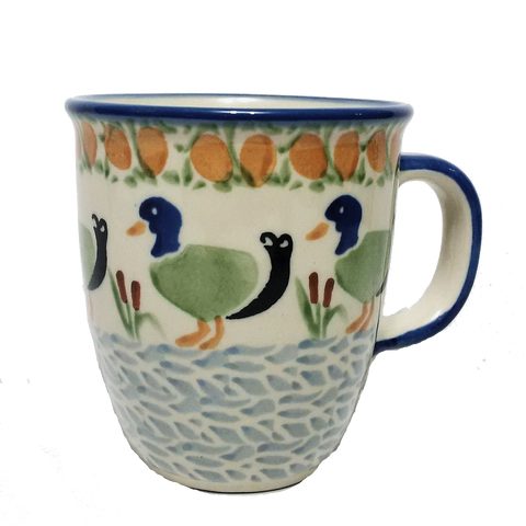 0.3 L Bistro mug in a Ducks In A Row pattern
