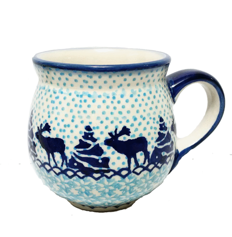 Bubble mug 8 oz. in Reindeer pattern
