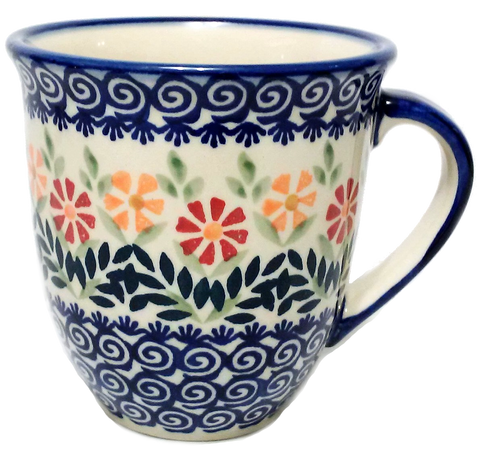 Large bistro mug 0.45L in a Spring Morning pattern