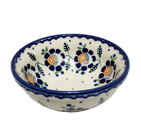 Cereal/Soup Bowl in Blue Daisy pattern