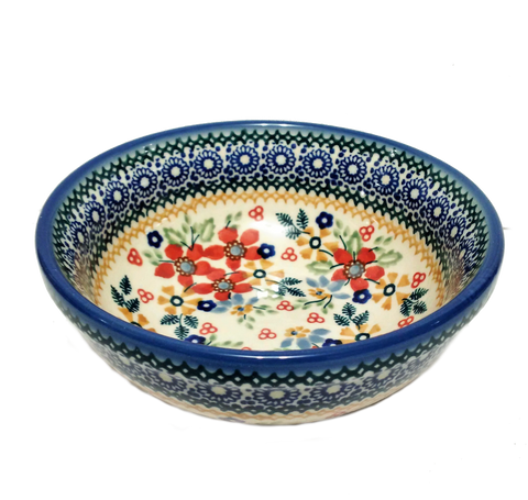 "5.75"" Cereal / Soup Bowl in Signed Summer Garden pattern"
