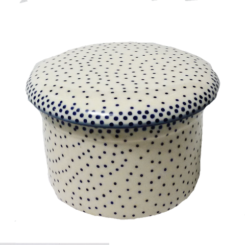 Butter Crock in Unikat Delicate Polka pattern