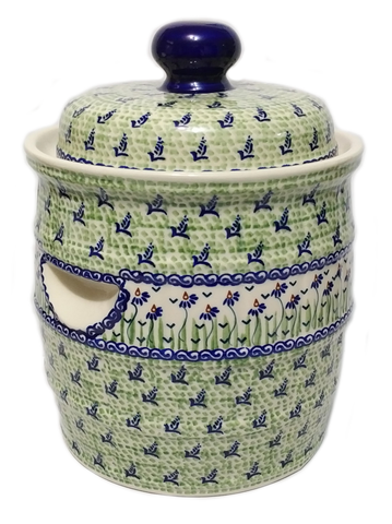 7L Sauerkraut Crock Pot in Dancing Garden pattern