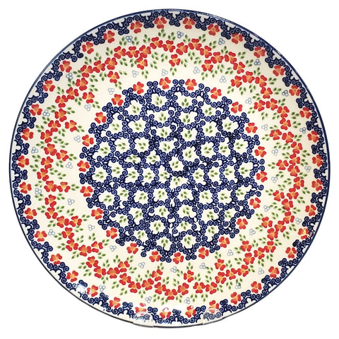 28cm Dinner plate in Unikat Poppy Meadow pattern