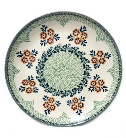 "10.75"" Dinner Plate in Unikat Marigold Fields pattern"