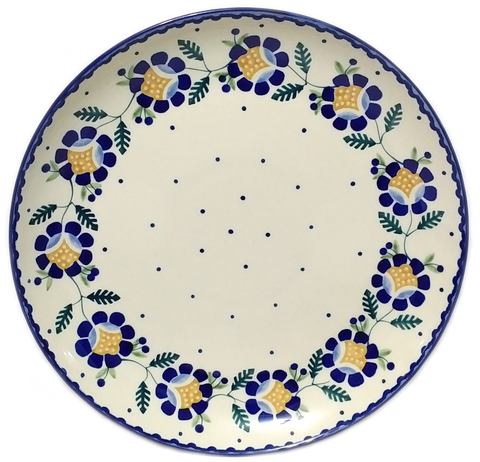 "Dinner Plate 10.75""/ 27 cm in Blue Daisy pattern"