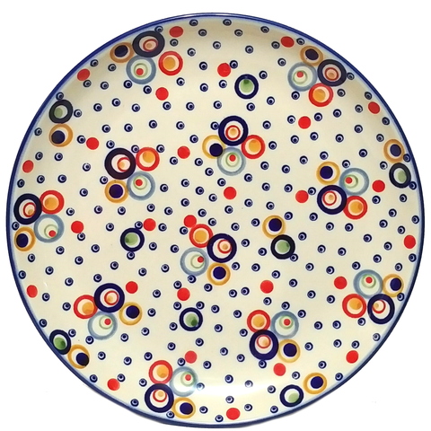 "Dinner Plate 11.25""/ 29cm in Unikat Happy Bubble pattern"