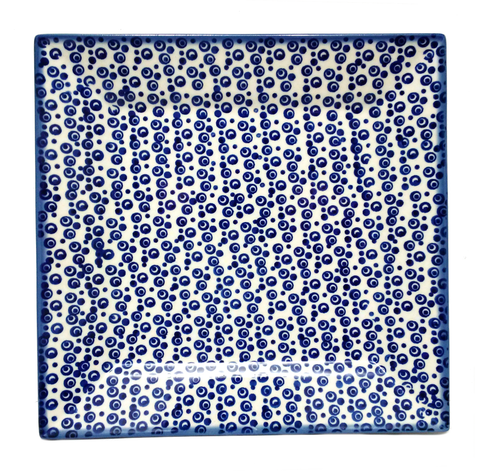 "9"" Square Platter in Bubbles pattern"