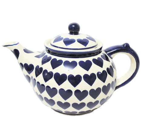 Afternoon teapot in Wrapped In Hearts pattern