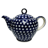 1.5 L Teapot w /strainer in Polka Dot pattern