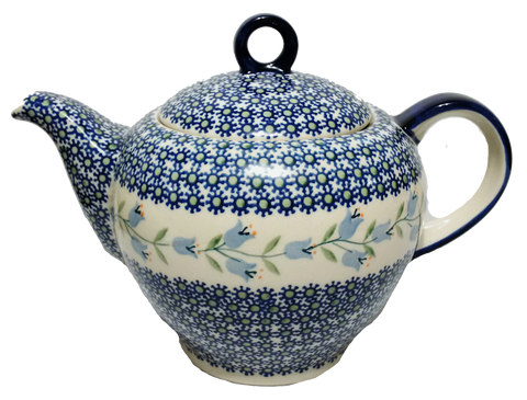 Teapot w/strainer 1.5L  in Trailling Lily pattern