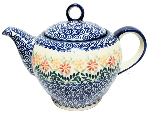 Teapot w/strainer 1.5L  in Spring Morning pattern
