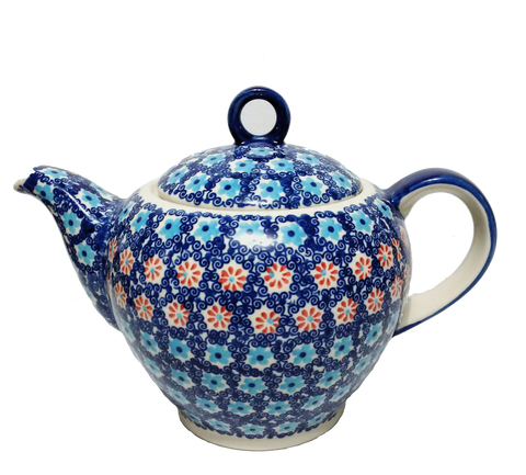 Teapot w/strainer 1.5L in Forget Me Not  pattern