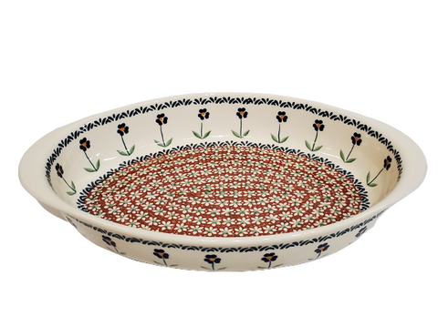 "30 cm / 11.75"" Oval Baking Dish in Traditional pattern"