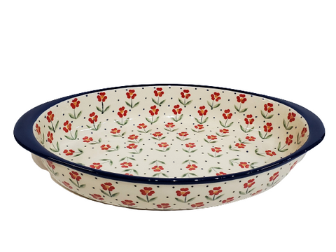 "30 cm / 11.75"" Oval Baking Dish in Country Kitchen pattern"