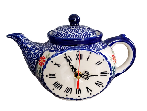Teatime Clock in Spring Morning pattern