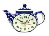 Teatime Clock in Polka Dot pattern