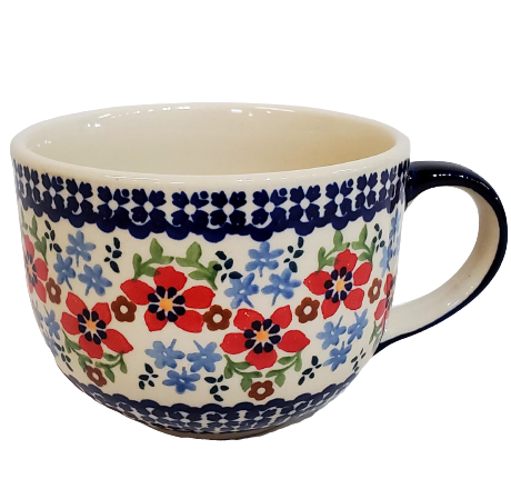 500ml Cappuccino/Soup mug in Country Garden pattern
