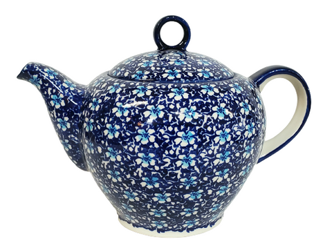 1.5L Teapot w/strainer in Floral Fantasy pattern