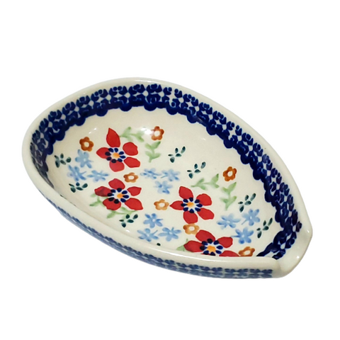 Spoon rest in Country Garden pattern