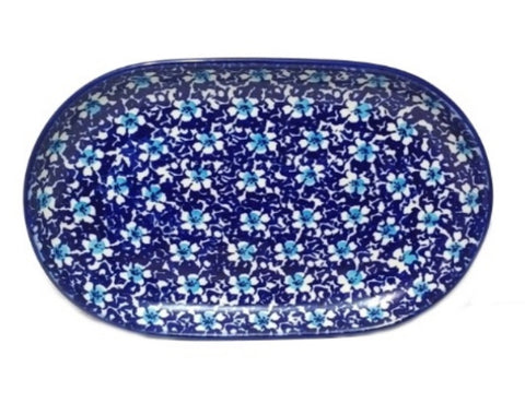 "9.25"" Oval Platter in Floral Fancy pattern"
