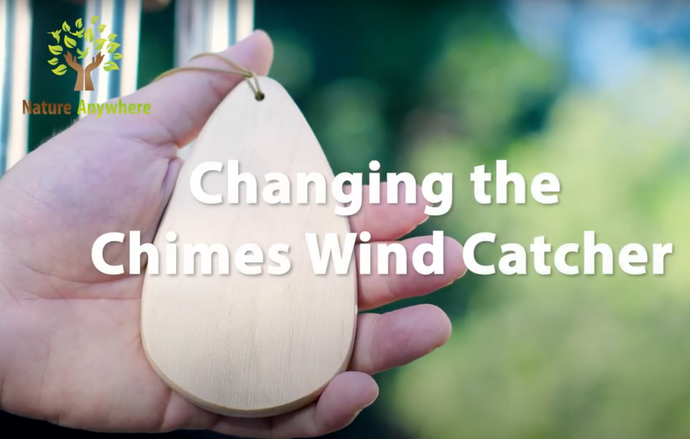 Changing sails on your Nature Anywhere wind chimes