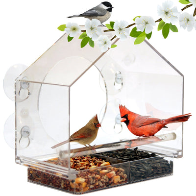 Birds-I-View Window Bird Feeder